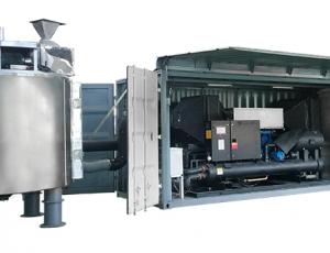 máy sấy bùn thải tuần hoàn không khí đóng